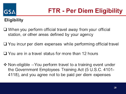 Advance federal travel regulation ftr update temporary duty