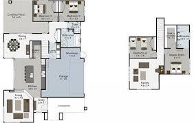 4 Bedroom Two Storey House Plans House Plan House Floor Plans Ruapehu Design From Landmark Homes