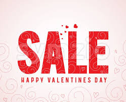 valentines sales sale text happy valentines day greetings vector illustration
