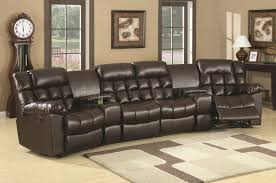 Sectional Reclining Sofas Leather 16 Theater Sectional Reclining Sofa Carehouse Info