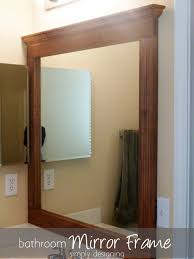 Framed Bathroom Mirror Ideas Wood Framed Bathroom Mirrors U2013 Harpsounds Co