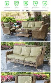 High End Wicker Patio Furniture - all weather high end antique wicker bird nest weaved rattan sofa