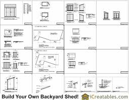 Diy Lean To Storage Shed Plans by 5x8 Lean To Shed Plans Icreatables Sheds