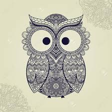 Patterned Flying Owl Drawing Illustration 2 126 Owl Tribal Stock Illustrations Cliparts And Royalty Free Owl