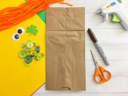 leprechaun paper bag puppet kid craft about a mom