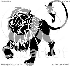 a lion looking back leo astrological sign of the zodiac clipart