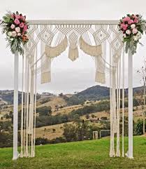 How To Decorate A Wedding Arch A Macrame Wedding Backdrop Is The Best Way To Reuse Decor