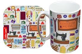 100 designer mug features quote color black ink elegant