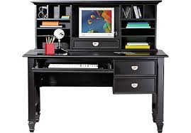 Black Writing Desk With Hutch Belmar Black 2 Pc Desk And Hutch