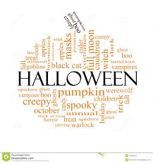 halloween word cloud concept in pumpkin shape stock images image