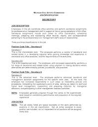 Resume Job Description by Legal Secretary Job Description Resume Recentresumes Com