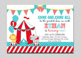 E Card Invites Carnival Circus Themed Birthday Invitation Ecard Designed By