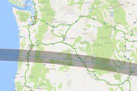 Map Oregon Coast by Rooms Campsites Going Fast Under Path Of 2017 Total Solar Eclipse