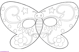 butterfly mask template coloring page coloring page