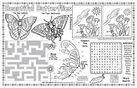 coloring placemats coloring books butterflies coloring placemat
