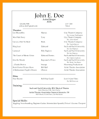 theatrical resume template theatre resume templates theatre resume templates theater sle