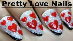 simple love nail designs pretty love nails holo nail gel