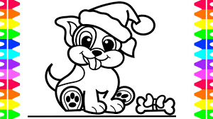 how to draw a puppy step by step christmas puppy coloring page