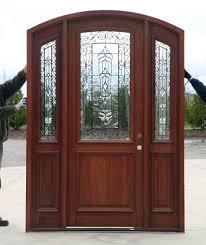 Exterior Door Threshold Replacement by Radius Arch Top Door With Sidelights