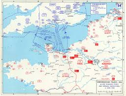 Air France Route Map by The Map Below Gives The Order Of Battle For The Allies And The