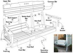 porch blueprints how to a porch swing by guide with cut list