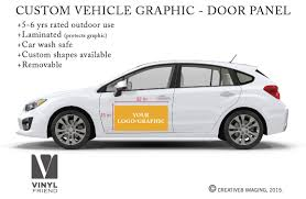 subaru side decal your logo or graphic custom vehicle graphic door panel vehicle