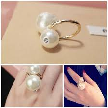 double pearl rings images Double pearl ring itahdnura kollection jpg