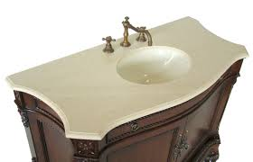 Antique Style Bathroom Vanities by Adelina 50 Inch Antique Style Bathroom Vanity Fully Assembled