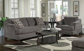living room suprising grey fabric couch with back and arms also
