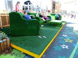 wallpaper city grass sitting table green chair playground