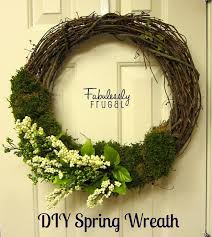 diy spring flower and moss wreath