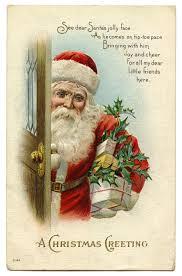 vintage christmas vintage christmas image santa at door the graphics fairy