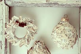 cool diy book paper sheets wreath tree ornaments