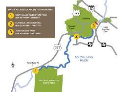 Kayak Map Tpwd South Llano Paddling Trail Texas Paddling Trails