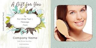gift certificate templates for a hair salon