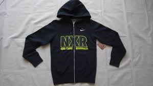 nike nxn regional fleece full zip hoodie blackxs nike off real