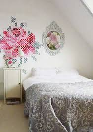 bedroom wall patterns bedroom wall decorating with cross stitch pattern for the home