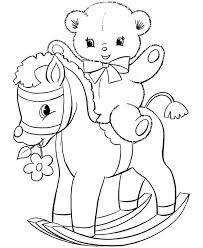 teddy bear coloring pages teddy bear rocking horse