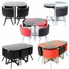 Round Glass Table And Chairs Glass Table And Chair Sets Ebay