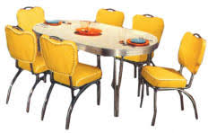Yellow Kitchen Table And Chairs - retro diner table and chair sets