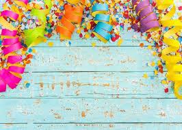 party confetti colorful streamers confetti carnival party birthday blue