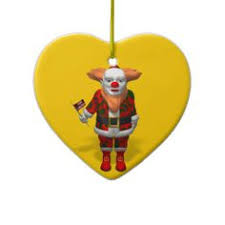 de carlini clown with ballons italian mouthblown christmas