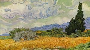 simplywallpapers com post impressionism vincent van gogh wheat