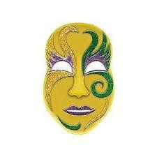 jumbo mardi gras mardi gras jumbo mask 3d glitter decoration 21in x 13 mardi