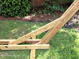 Plans For Making A Garden Table by 40 Diy Hammock Stand That You Can Make This Weekend