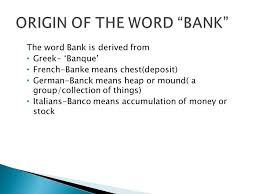 banking its definition and functions ppt