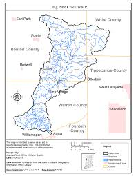 State Of Indiana Map by Idem Big Pine Creek Wmp
