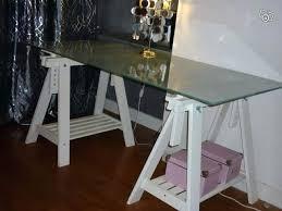 plateau verre bureau table de cuisine ikea en verre bureau ikea plateau de verre et
