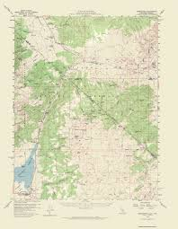 Aurora Colorado Map by Old Topographical Map Bridgeport Nevada 1958
