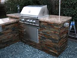 bbq island with custom granite countertop u0026 tile sides youtube